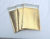 10 6x10 Gold Metallic Beautiful Bubble Mailers Self Seal Envelopes size 0 6x9 usable Shiny Gold Padded Mailing Shipping Envelopes