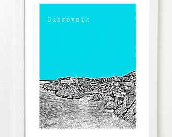 Dubrovnik, Croatia Poster - City Skyline Series Art Print - Dubrovnik Art