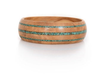 Wood bangle and Eilat Stone - Eilat Regal