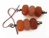 Autumn Earrings, Fall Earrings, Brown Dangle Earrings, Chocolate Brown Earring, Brown Drop Earring, Taupe Earrings, Nature Inspired Jewelry