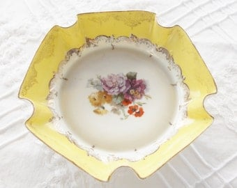 Gorgeous Antique Austrian Fluted Candy Dish, French Shabby Chic, Cottage Style, RMS