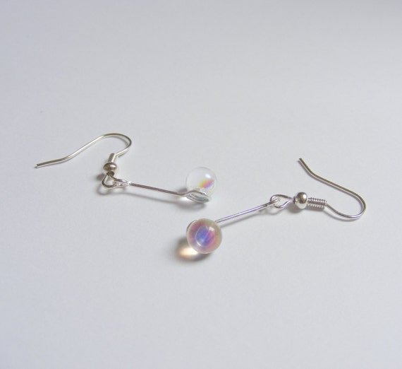 Bubbles and wand earrings miniature food by neateats on etsy for Mini bubble wands