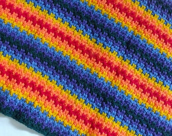 Edith's Rainbow Blanket - Instant Download PDF Crochet Pattern