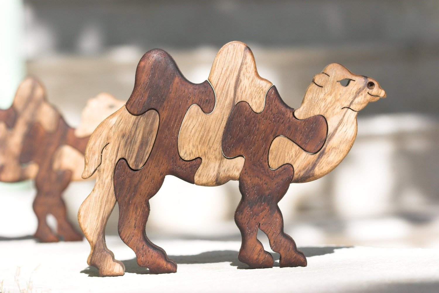Camel, puzzle, wooden camel puzzle, jigsaw puzzle, handmade, wood puzzle, wood toy, wooden animal puzzle, solid wood, scroll saw, toy, game.