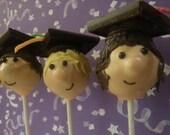 Wide Eyed Grads Cake Pops - individual