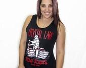 Crystal Lake Boat Tours Tank Top Funny Retro Cult Horror Humor Punk Rock Tank Tee Shirt Tshirt S-3XL Great Gift Idea