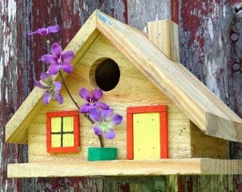 Rustic Cedar Chalet Style Birdhouse