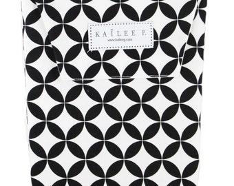 Black & White Tiles Diaper Pouch