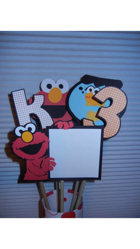 CUSTOM LISTING - two elmo centerpieces