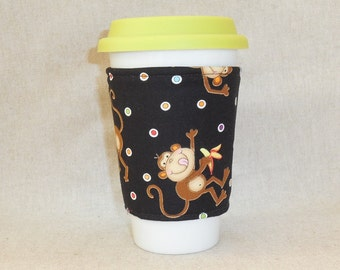 Adorable Monkey Themed Coffee Cozy