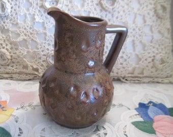 Pottery Pitcher or Creamer , Vintage Pottery, Vintage Pitcher, Country Decor, Farm house Decor, Home Decor, Vintage Home Decor,    :)S