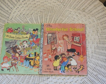 1972 Golden Book The Wonderful School  by May Justus :)