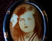 French antique/vintage picture pendent. Paris find