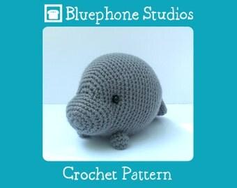 Crochet Pattern: Orlando the Manatee