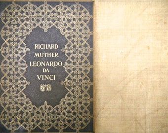 German Antique Book, Distressed, Leonardo da Vinci, Published Berlin Early 20th Century - German Text, 19 Plates, Leonardo da Vinci Book