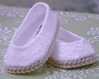 White Eyelet Shoes for American Girl