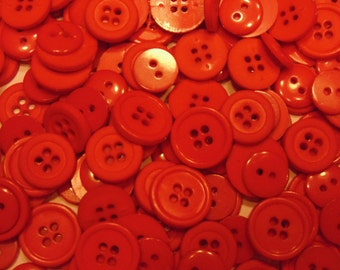 50 piece lipstick red button mix, 12-15 mm (B8)