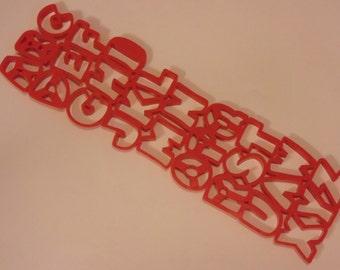 alphabet cookie cutters set,  50 mm each letter (R4)