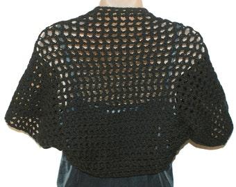 Black Shrug, Womens Vest, XL Bolero, Black Bolero, Plus Size Shrug, Clothing Plus Size, Womens Plus Size, XL Clothing, Shrugs Boleros