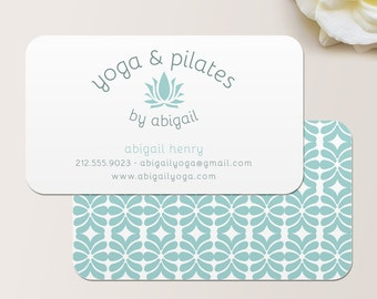 Yoga Instructor or Pilates Instructor Business Card / Calling Card / Mommy Card / Contact Card - Calling Cards, Modern Business Cards