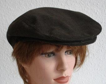 Newsboy FlatCap Newsboy Paperboy 100% Cotton  brown- Size S 56/ 57cm  22 -22,4 inch - Flat Cap