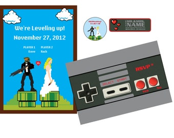 Nintendo Wedding Invitation Set 3