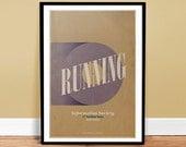 Running Poster Art Print