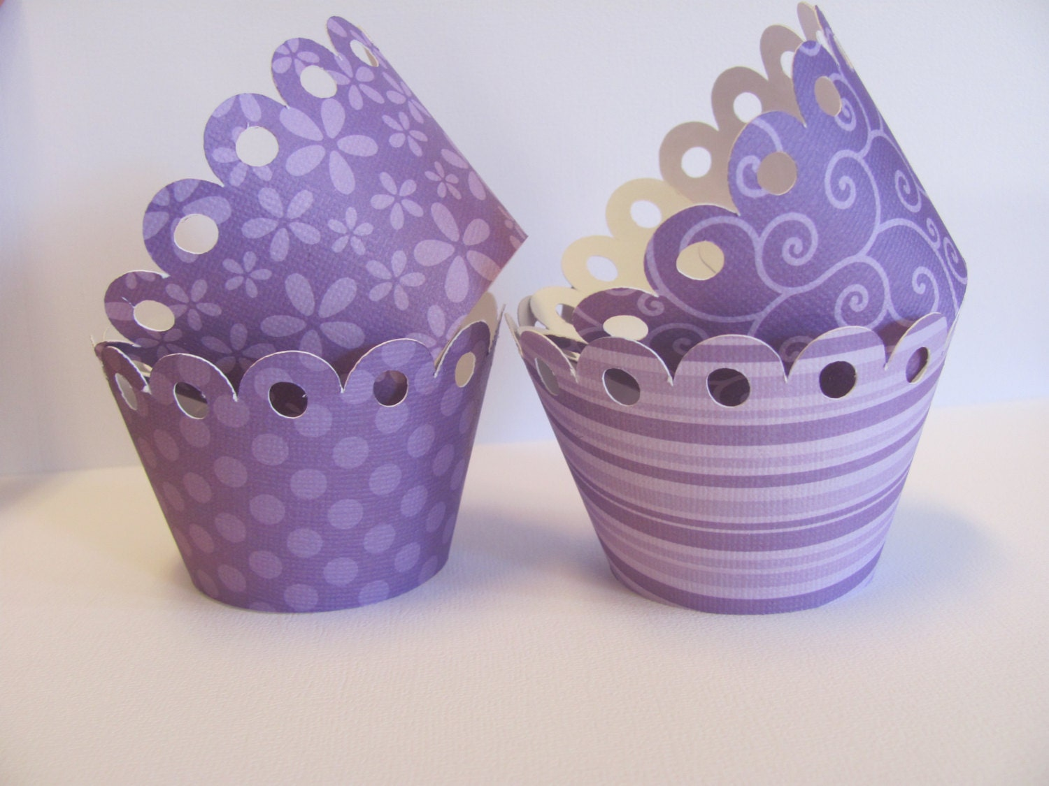 Set Of 12 Purple Cupcake Wrappers