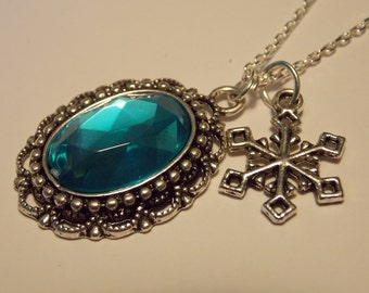 Ice Inspired Silver and Blue Necklace