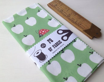 ONE FQ of halfpinthome cotton fabric - Apples & Ladybird