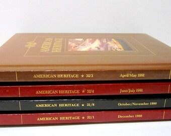 Four Beautiful American Heritage Books
