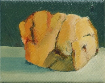 "Original oil painting southwestern stone. A small rock from Taos New Mexico Jan Smiley 4""'x5"""