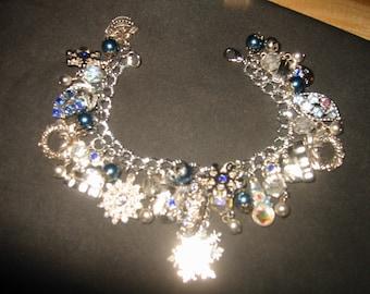 Winter Wonderland OOAK Charm Bracelet by Kay Creatives