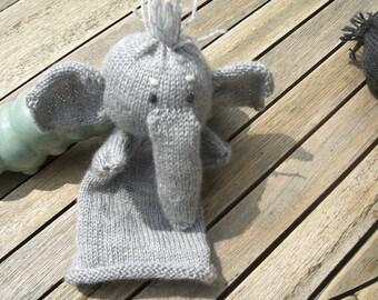 Handpüppchen for children's hands, grey, ca 30 cm. safe for children