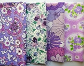 Vintage sheets fabric bundle - purple