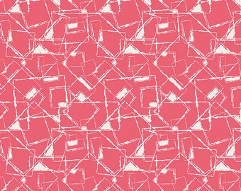 SAVE on 1.39 yd. bolt end--NouvElle--New Look-Coral--Pat Bravo--Art Gallery Fabrics