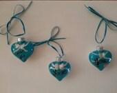 "Set of Three ""I Love You"" Ornaments"