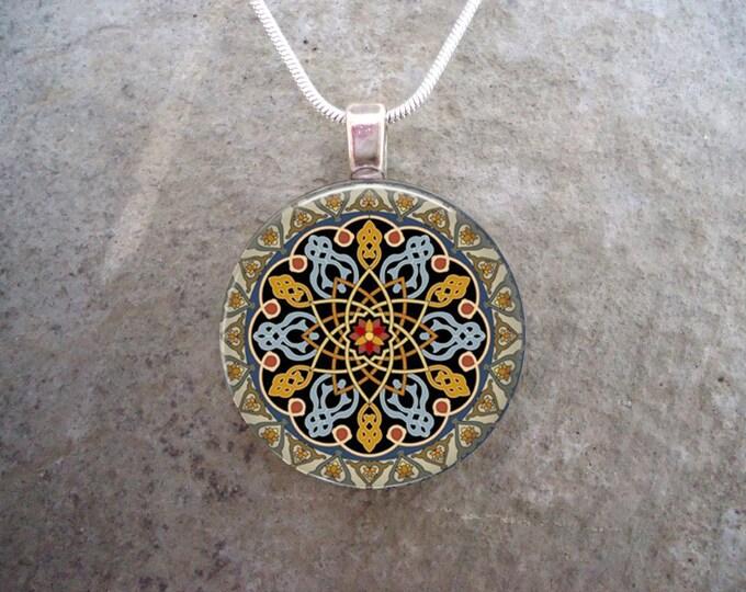 Celtic Jewelry - Glass Pendant Necklace - Celtic Decoration 33