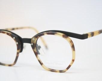 Vintage Glasses Frames Black Tortoise vintage Eyeglass Frames 1980s Retro Eyeglasses