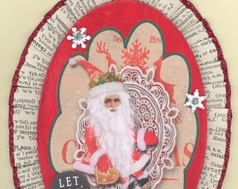 Santa Whimsical Christmas Ornament #1