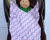 Car Seat Blanket: Wraps Under Baby and Won't Fall Off - Flannel Fabric