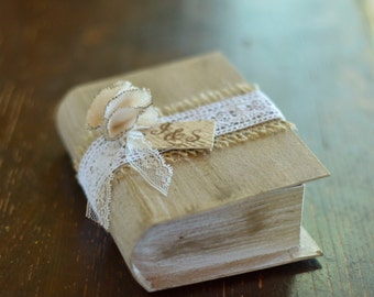 Personalized Ring Bearer Book by Burlap and Linen Co