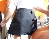 American Girl Doll Clothes - Reversable Wrap Skirt - Halloween on one side black on the other for 18 inch doll