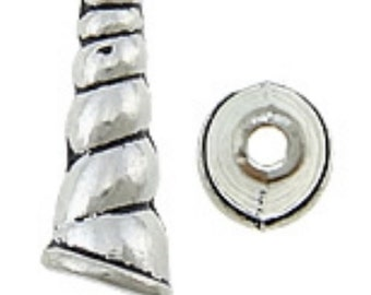 10pc antique silver 23x8mm cone shape bead cap-8463