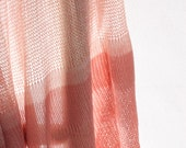 Pink Scarf , knitted lace scarf, Pink  transparent shawl, Summer bamboo silk scarf - Toosha