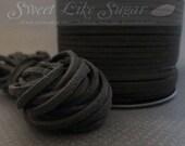 6yds Black Suede Cording SKU#665-10