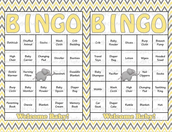 It is a photo of Lucrative 40 Free Printable Baby Shower Bingo Cards