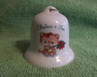 Russ Berrie Christmas Bell Ornament