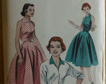 Vintage Butterick Pattern 6907  50s Dress with Jacket