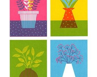 Potted Plants, Original ScreenPrint